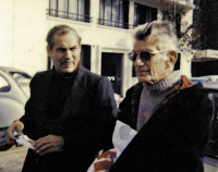 Richard Seaver and Samuel Beckett, Paris, mid-1970s; photograph by Jeannette Seaver