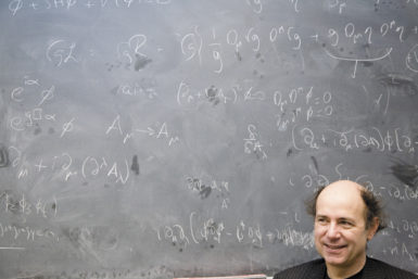 The Nobel Prize–winning particle physicist Frank Wilczek, at the Massachusetts Institute of Technology, February 2007