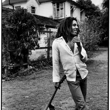 Bob Marley at his house in Kingston, Jamaica, March 1976; photographs by David Burnett from his book Soul Rebel: An Intimate Portrait of Bob Marley