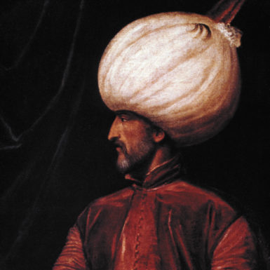 Suleiman the Magnificent, sultan of the Ottoman Empire at the height of its power, from 1520 to 1566; sixteenth-century painting by a member of the Venetian school