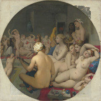 Jean-Auguste-Dominique Ingres: <i>The Turkish Bath</i>, 1862