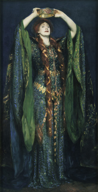 Ellen Terry as Lady Macbeth; portrait by John Singer Sargent, 1889, from Michael Holroyd's A Strange Eventful History