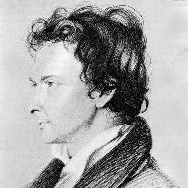 William Hazlitt; drawing by William Bewick, 1825