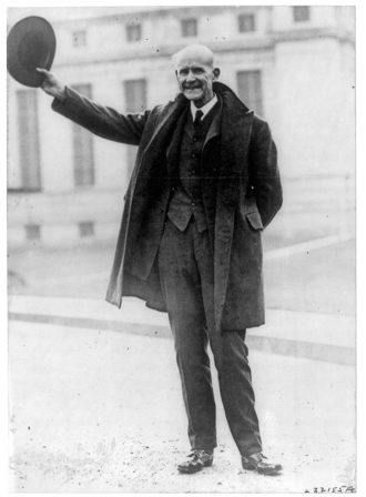 Eugene Debs just after his release from the Atlanta penitentiary, December 25, 1921