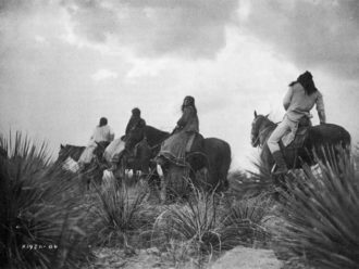 'The Storm—Apache,' 1906; photograph by Edward S. Curtis