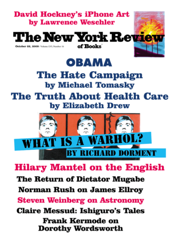 Image of the October 22, 2009 issue cover.