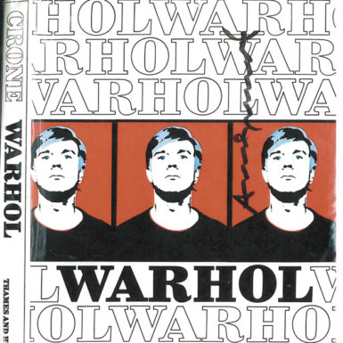 The London art collector Anthony d'Offay's copy of the catalogue raisonné of Andy Warhol's work compiled by Rainer Crone (1970), the cover of which was signed by Warhol in 1986. The cover image, chosen by Crone and Warhol, is the copy of Warhol's Red Self Portrait (1965) that he dedicated to its then owner, the art dealer Bruno Bischofberger, with the inscription 'To Bruno B Andy Warhol 1969.' The picture is now owned by d'Offay.