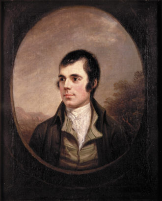 Robert Burns, 1787; portrait by Alexander Nasmyth