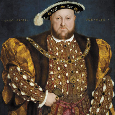 Henry VIII; portrait by Hans Holbein the Younger, 1540