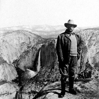 Theodore Roosevelt at Glacier Point, Yosemite National Park, 1903