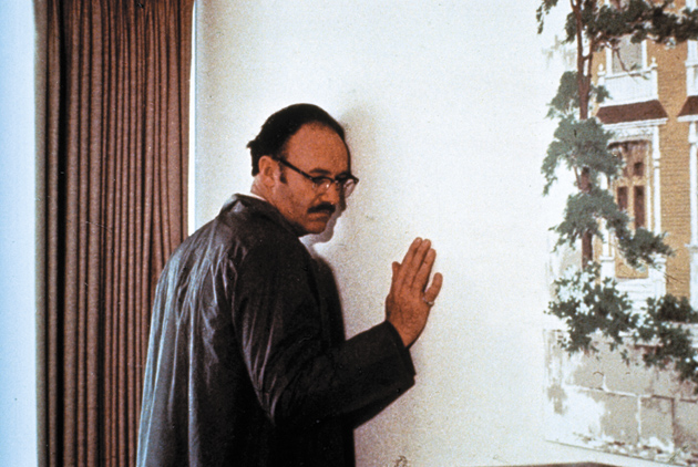 Gene Hackman as the paranoid surveillance expert Harry Caul in Francis Ford Coppola's The Conversation, 1974