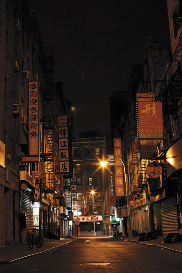 Chinatown, New York City, July 2008; photograph by Simon Lee from the cover of Patrick Radden Keefe's The Snakehead