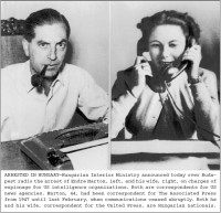 This notice and these photographs of Kati Marton's parents were distributed by the AP wire service on July 9, 1955. They appear in her book Enemies of the People.