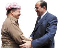 Kurdish President Massoud Barzani and Iraqi Prime Minister Nouri al-Maliki, Sulaimaniya, Iraqi Kurdistan, August 2, 2009