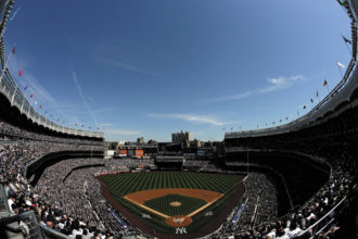 Opening day at the new Yankee Stadium in the Bronx, April 16, 2009