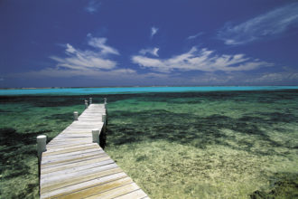 A pier in the Cayman Islands, the secret hiding place of many illicit money transactions