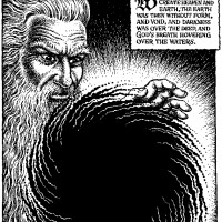 The opening panel of R.Crumb's The Book of Genesis
