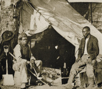 John Henry, right, an escaped slave who joined the Union Army as a servant, 1861–1865