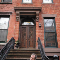 L. J. Davis at his former town house, Brooklyn, April 2009