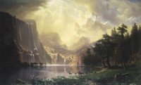 Albert Bierstadt: Among the Sierra Nevada Mountains, California, 1868