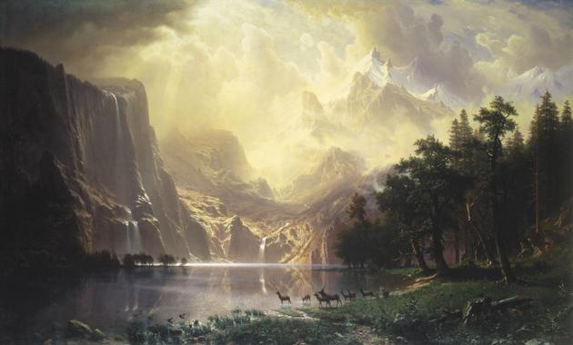 Albert Bierstadt: Among the Sierra Nevada Mountains, California, 1868