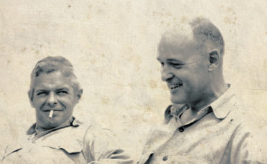 Paul Nitze and George Kennan at Kennan's farm in Pennsylvania, mid-1950s