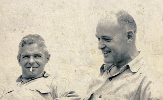 Paul Nitze and George Kennan at Kennan's farm in Pennsylvania, mid-1950s