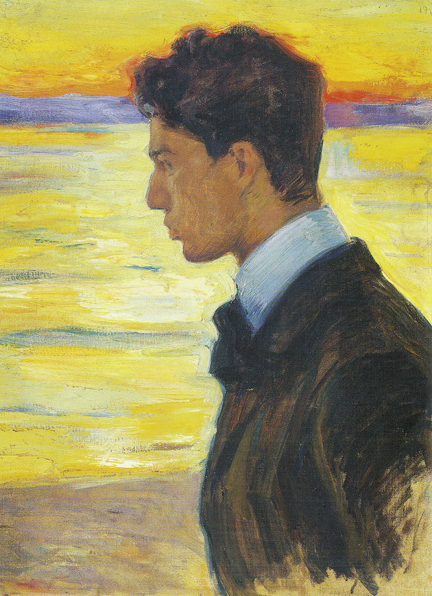 Boris Pasternak at the Baltic Sea, 1910; portrait by his father, Leonid Pasternak