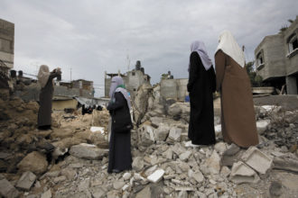 Members of a Hamas women's organization at Beit Hanoun in the Gaza Strip, after a weeklong military operation by Israeli forces, November 14, 2006