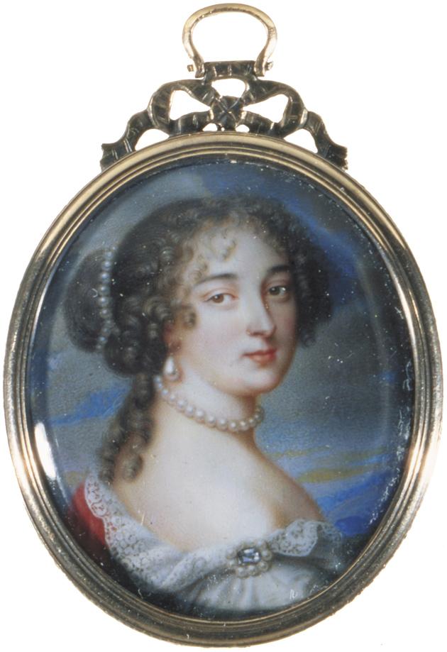 Madame de Maintenon; seventeenth-century enamel miniature by Jean Petitot the Elder