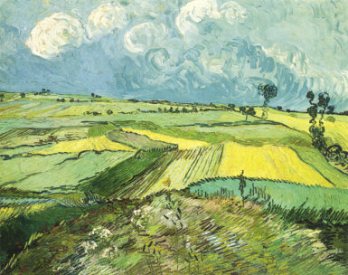 Vincent van Gogh: Wheat Fields after the Rain, July 1890