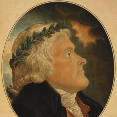 Thomas Jefferson; aquatint by Michel Sokolnicki, after a portrait by Tadeusz Kosciuszko, early 1800s