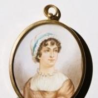 Miniature portrait of Jane Austen, 19th century