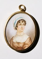 Miniature portrait of Jane Austen, 19th century