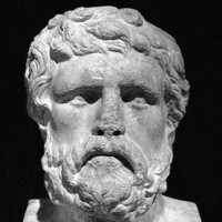 A bust of Xenophon; from The Landmark Xenophon's Hellenika