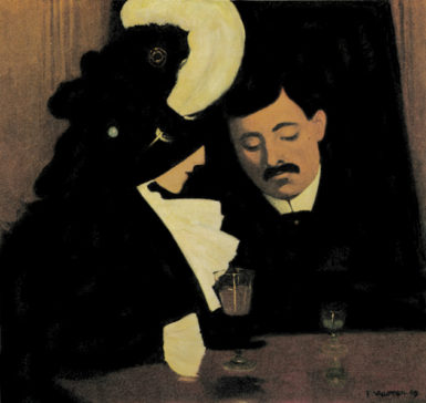 'In the Café, or The Provincial'; painting by Félix Vallotton, 1909