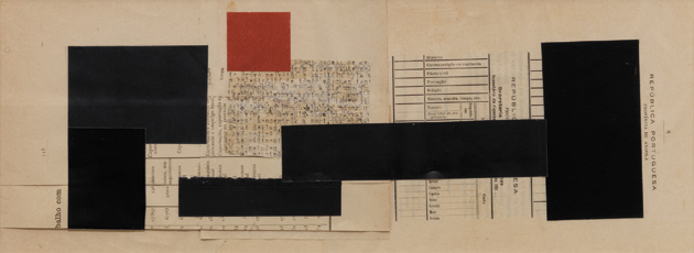 Untitled (Republica Portuguesa), 6 1/4 x 17 inches, 2003; collage by Janet Malcolm
