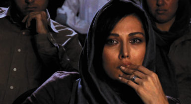 A still from Abbas Kiarostami's 2008 film Shirin, which examines the faces of women watching a film, never seen by us, of the twelfth-century Persian love story Khosrow and Shirin