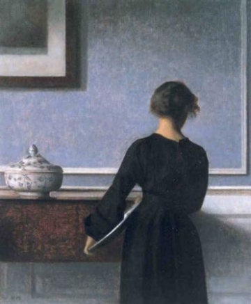 Interior With Young Woman From Behind.jpg