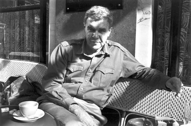 Raymond Carver at the Café de Flore, Paris, 1987