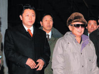 Kim Jong Il, right, and his third son, Kim Jong Un, inspecting the Kim Chaek Iron and Steel Complex in North Hamgyong province, North Korea, early March 2010