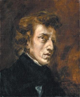 Frédéric Chopin; painting by Eugène Delacroix, circa 1838
