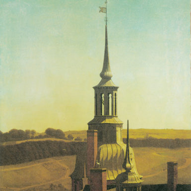 Christen Købke: One of the Turrets at Frederiksborg Castle, 69 5/8 x 63 3/4 inches, 1834–1835