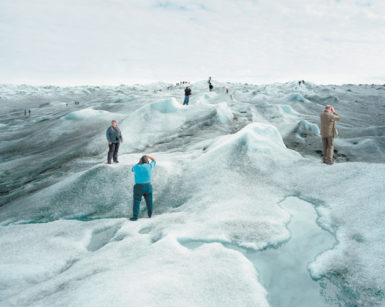 Visitors to Greenland's ice sheet, 2008; photograph by Olaf Otto Becker