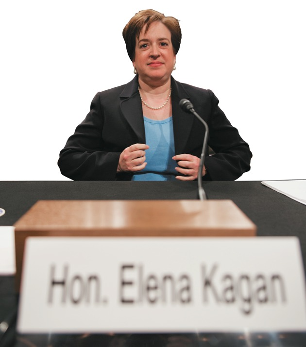US Supreme Court nominee Elena Kagan takes her seat before answering questions before the Senate Judiciary Committee for her confirmation hearing on Capitol Hill in Washington on June 30, 2010