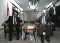Prime Minister Nouri al-Maliki meeting with Iyad Allawi, the head of the al-Iraqiya alliance, Baghdad, June 29, 2010