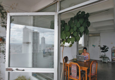 Yoani Sánchez, the author of the blog Generation Y, in her apartment, Havana, Cuba, October 3, 2007