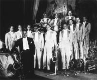 Duke Ellington and his band at the Oriental Theatre, Chicago, 1934