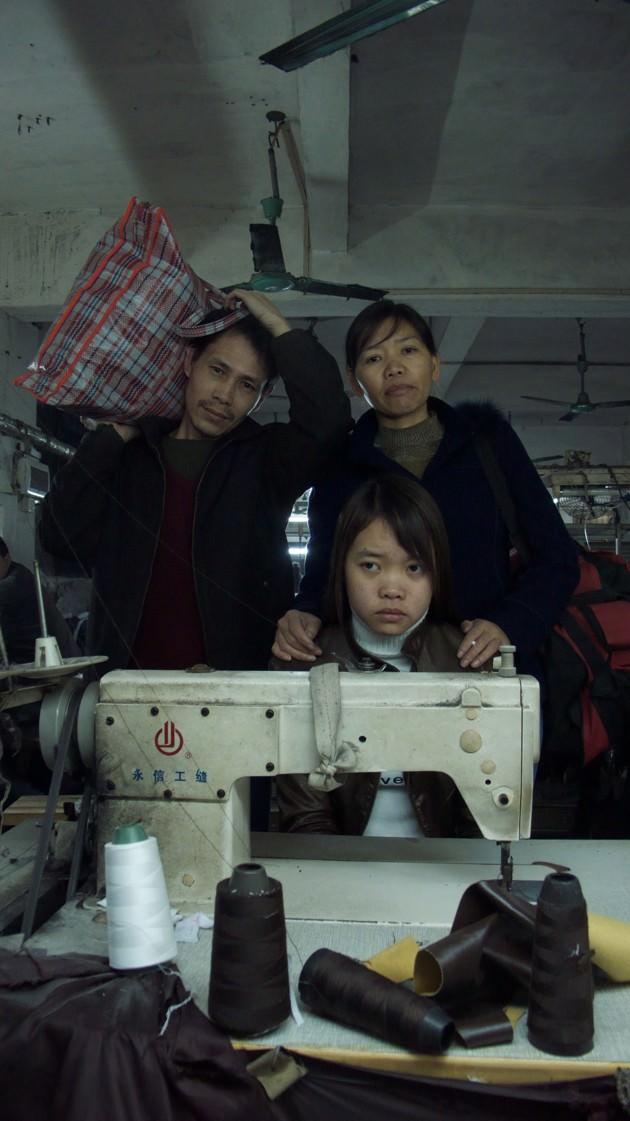 Zhang Changhua, Chen Suqin and their daughter Zhang Qin in Last Train Home