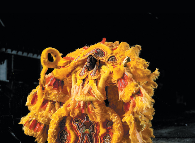 Clarke Peters as the Mardi Gras Indian chief Albert Lambreaux in the television series Treme, set in post–Hurricane Katrina New Orleans